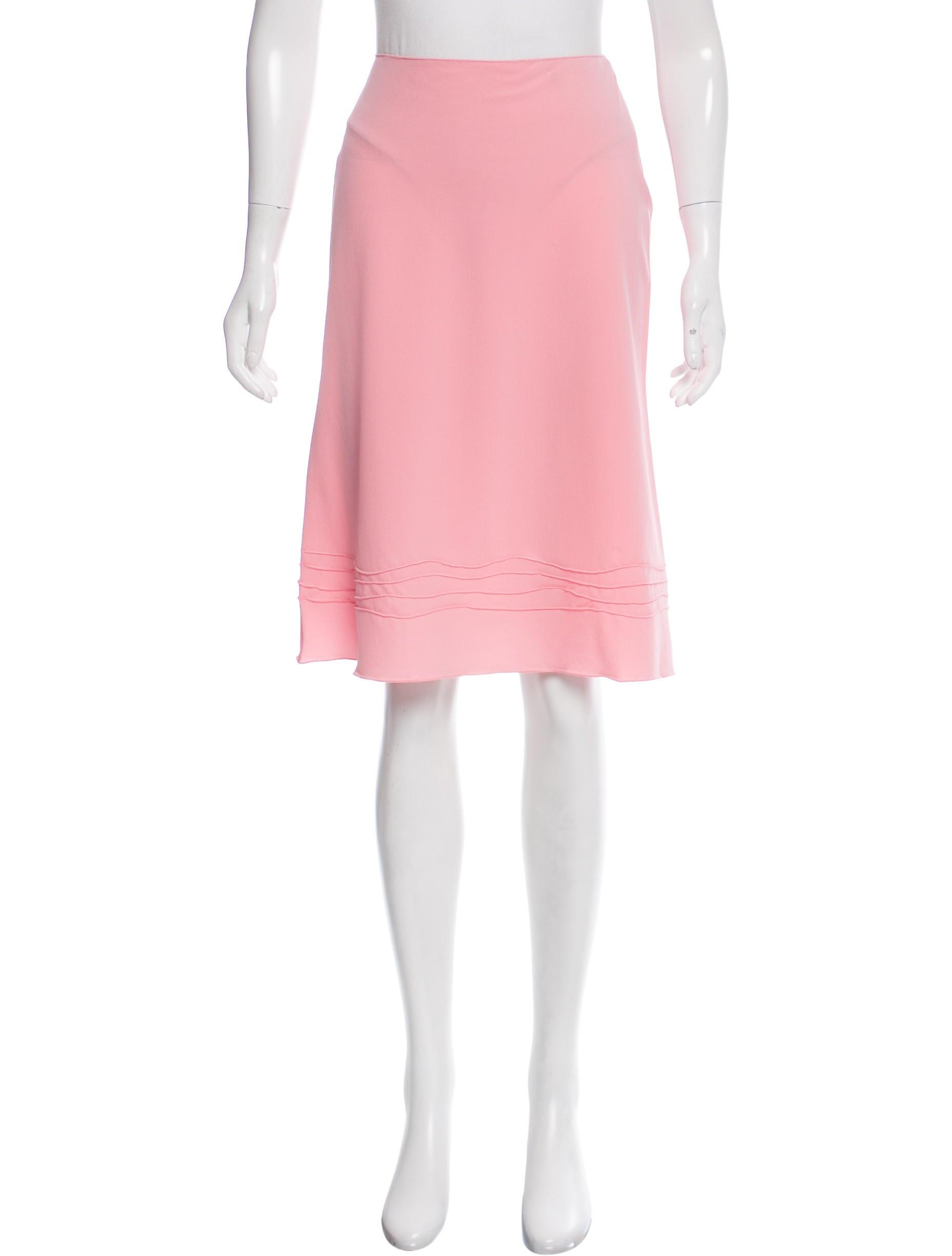 prada a line knee length skirt clothing pra159056