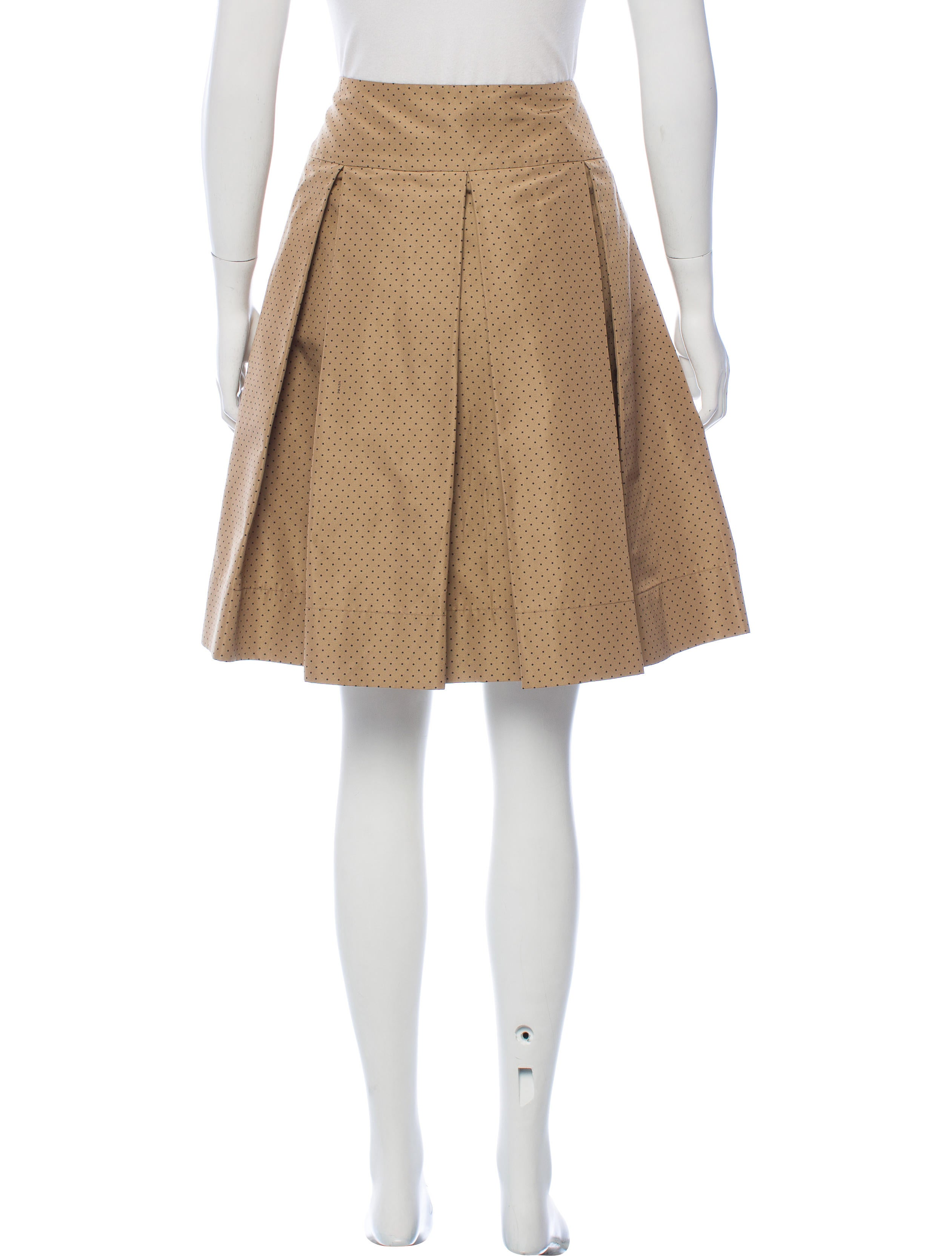 prada silk pleated skirt clothing pra159435 the realreal