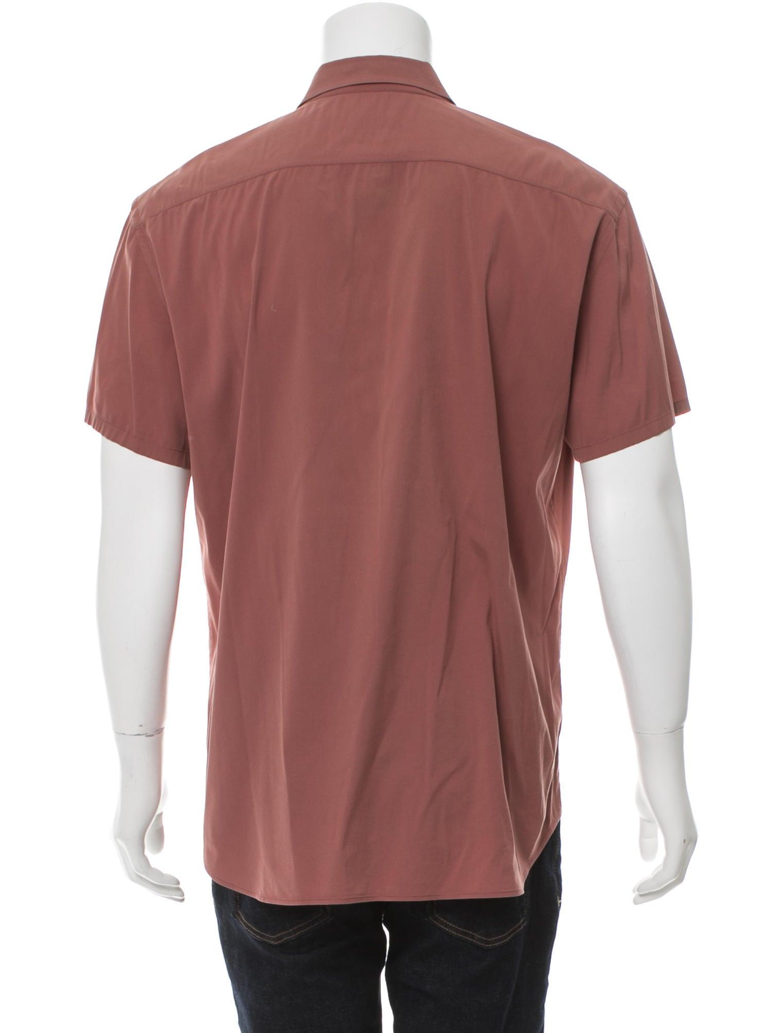 Prada Short Sleeve Button Up Shirt Clothing Pra159443