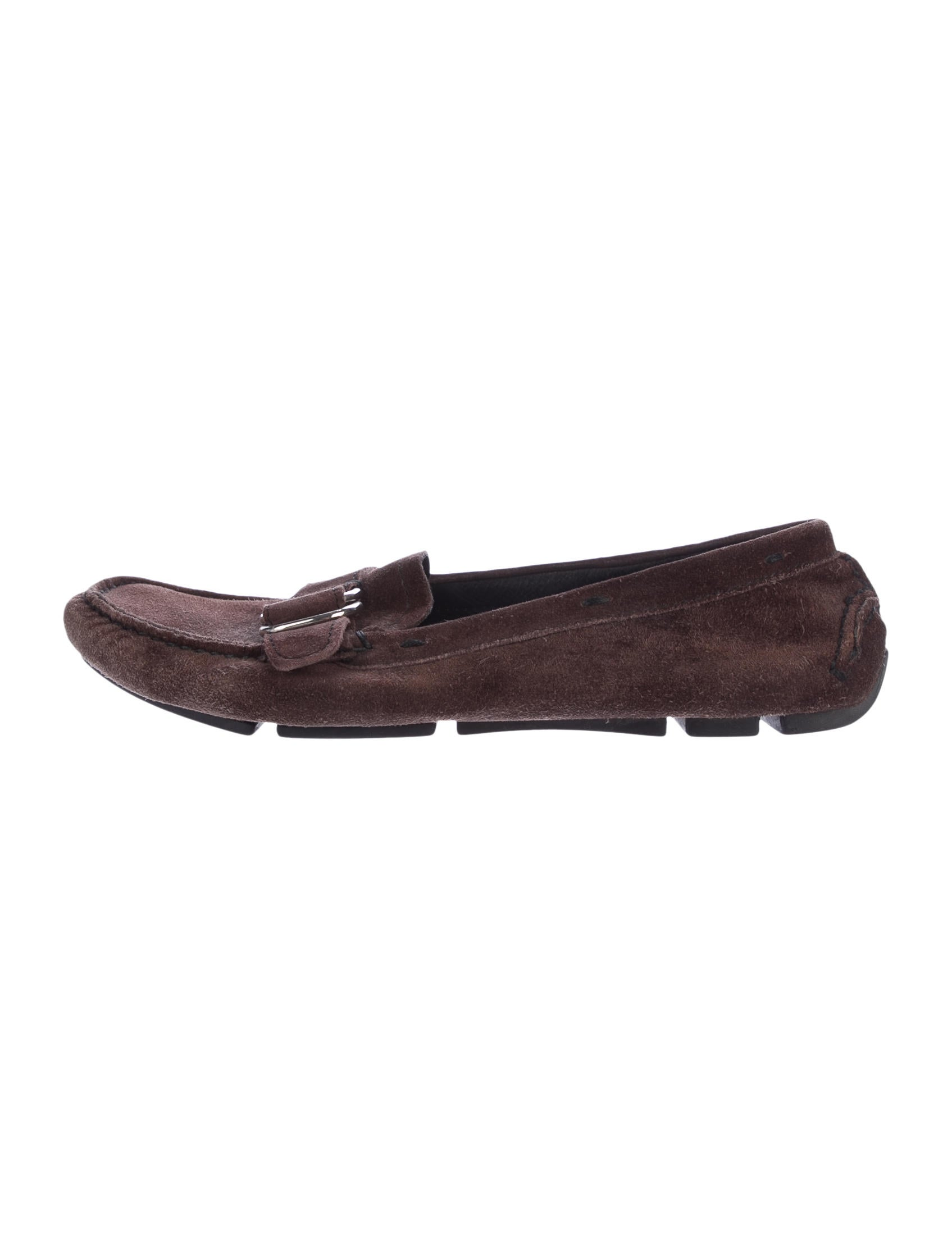 Prada Suede Loafer Flats - Shoes - PRA159704 | The RealReal