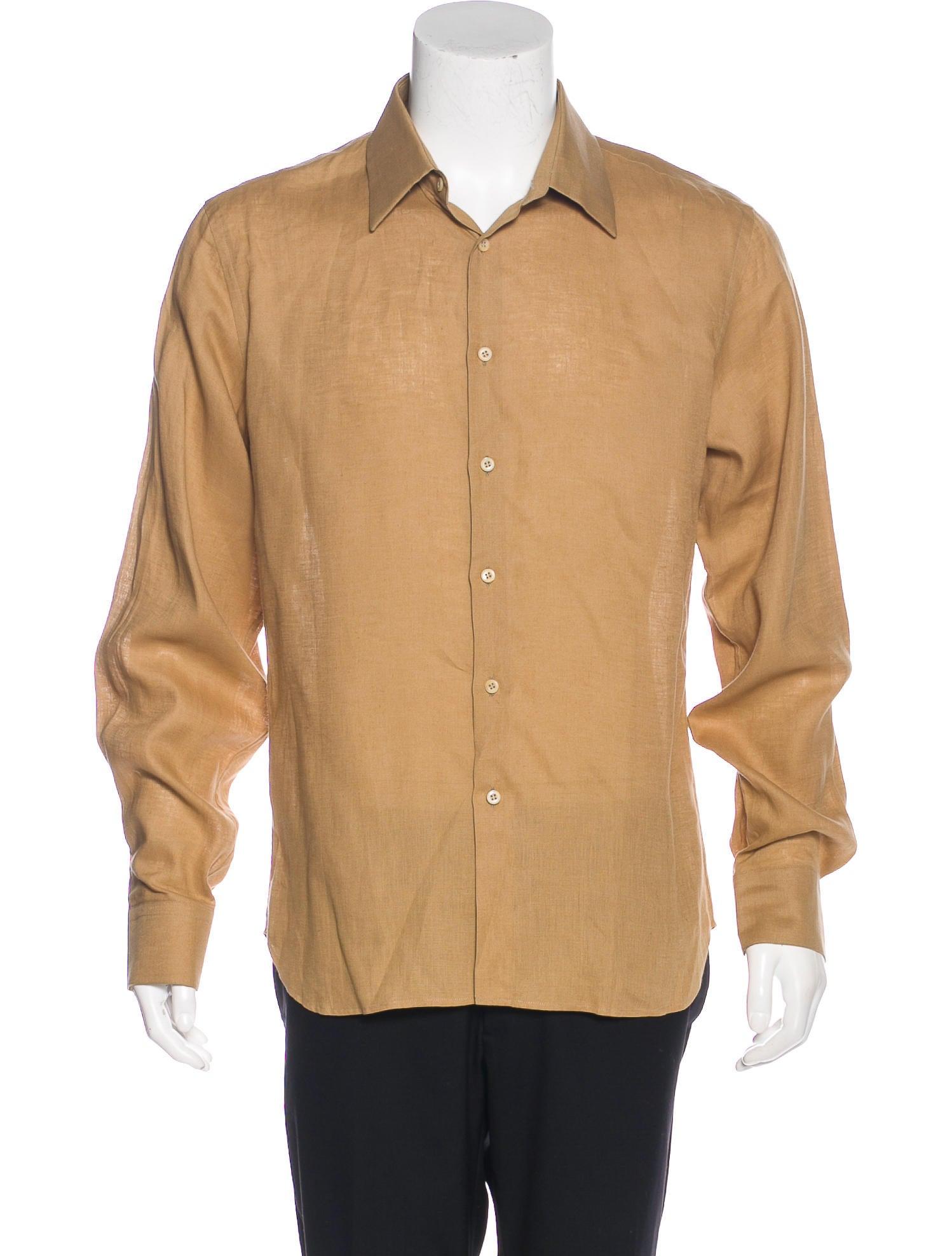 prada linen button up shirt clothing pra160060 the