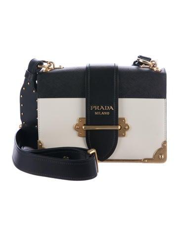 8d814b90b499 Prada Cahier Leather Shoulder Bag White | Stanford Center for ...