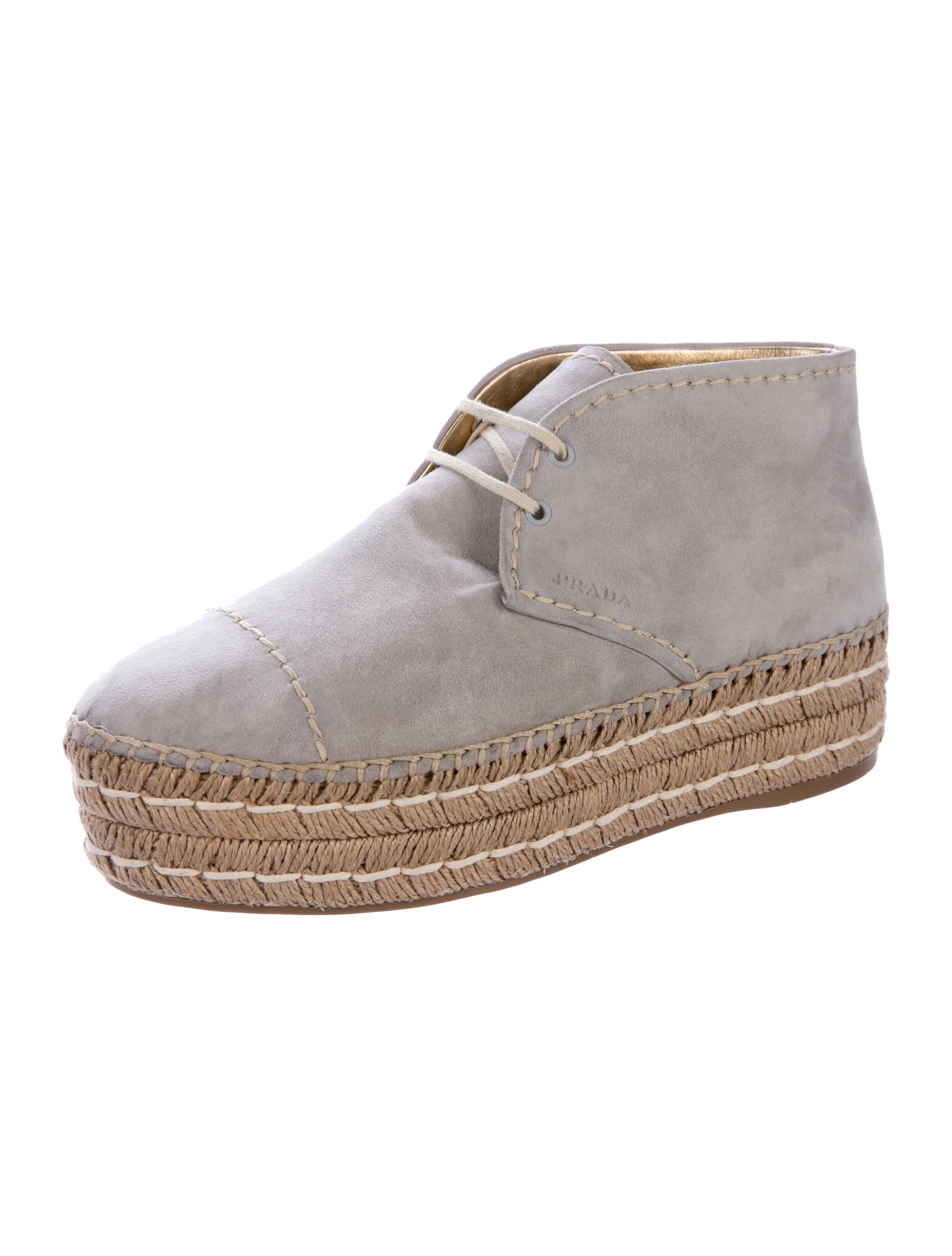 prada suede espadrille chukka boots shoes pra160278
