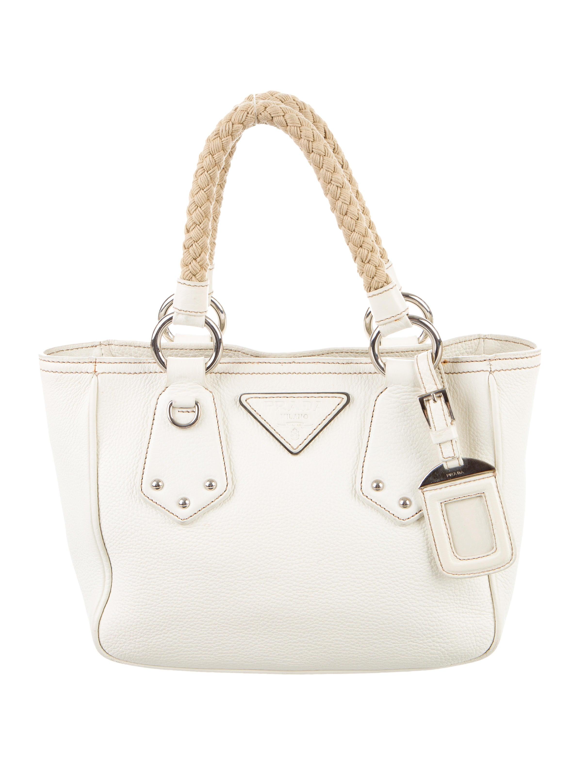 95bfb4923f4b Prada Vitello Daino Rope Handle Bag - Handbags - PRA160389