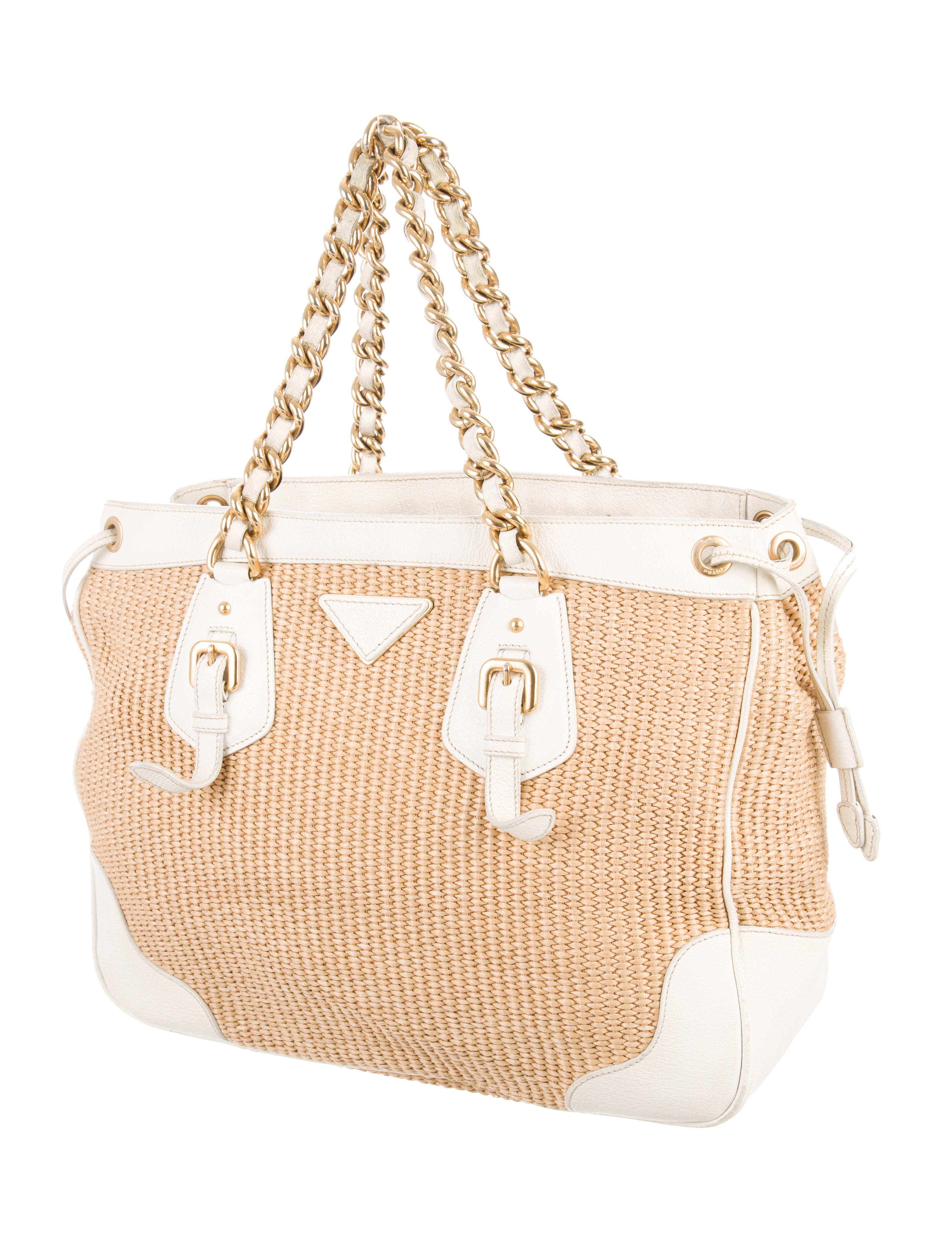 dbf32c17f962 Prada Cahier Woven Straw And Leather Bag 1bd045 | Stanford Center ...
