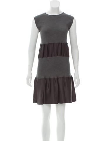 Prada Sleeveless Mini Dress None