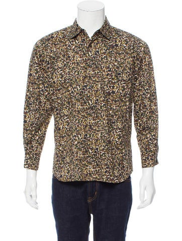 Prada Camouflage Button Up Shirt Clothing Pra160552