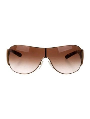 19d6cf39203 Prada Shield Sunglasses Tortoise Shell Gold