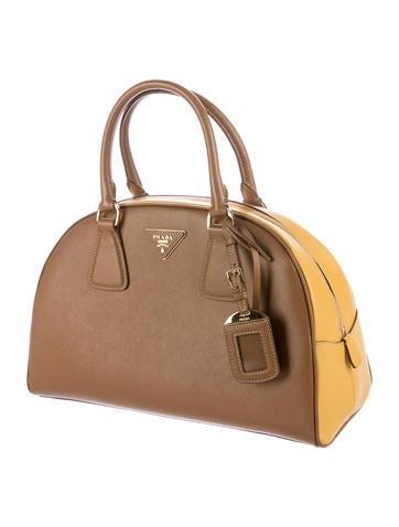 Prada Saffiano Lux Bowler Bag - Handbags