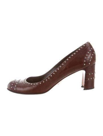 Prada Leather Studded Pumps view online buy cheap countdown package MaVi7nF5