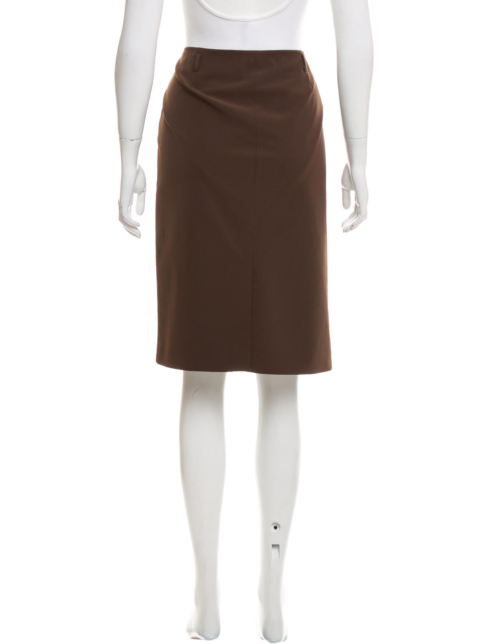 prada knee length pencil skirt clothing pra161397