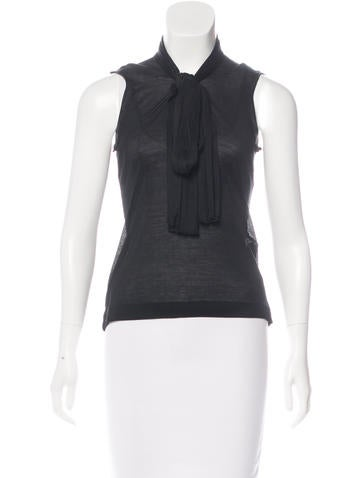 Prada Tie-Accented Silk Top None