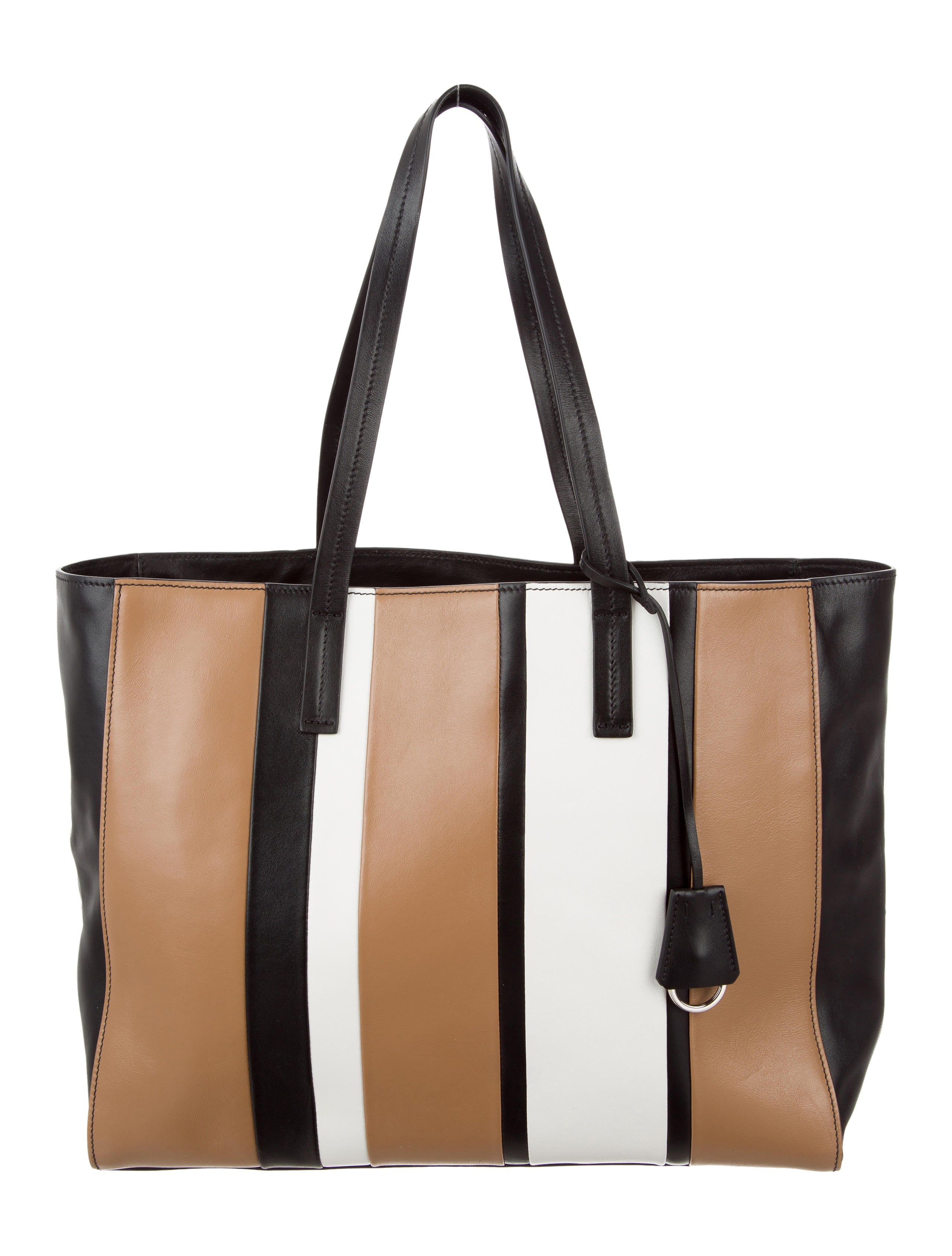 7c33590cc228bc Prada Baiadera Calf Striped Tote - Handbags - PRA161787   The RealReal