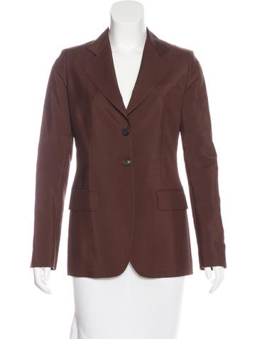 Prada Mohair & Wool-Blend Notch-Lapel Blazer None