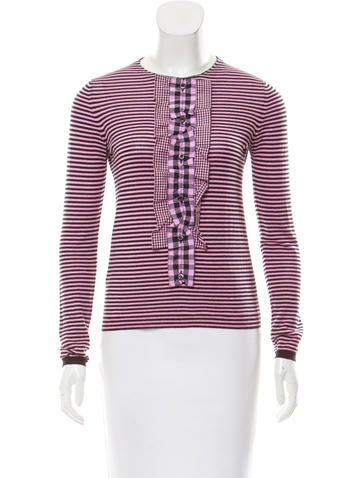 Prada Striped Wool Sweater None