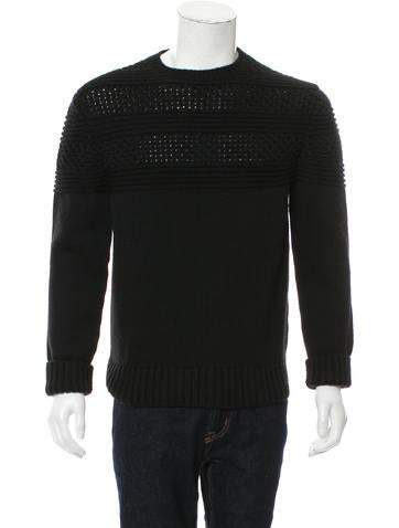 Prada Virgin Wool Crew Neck Sweater None