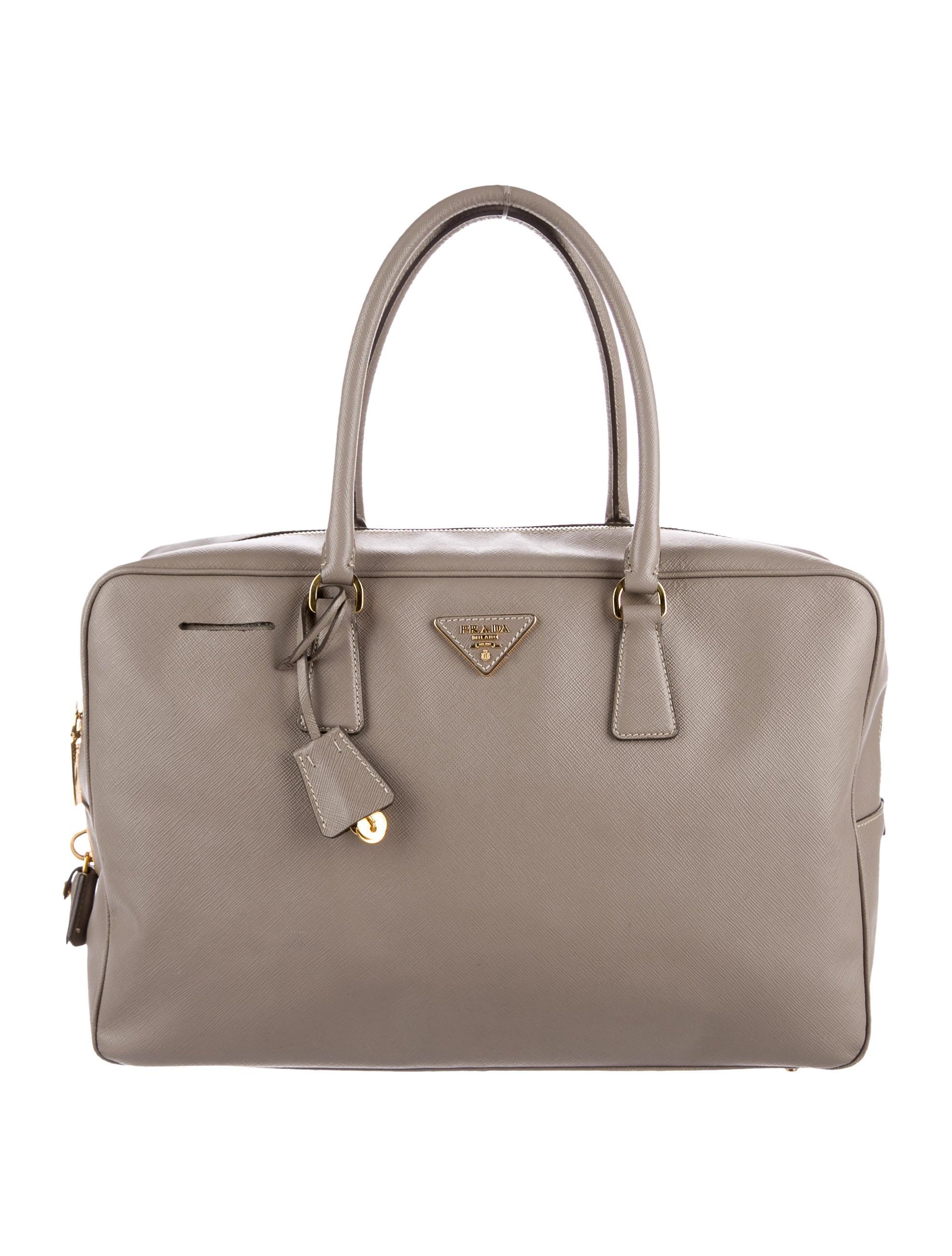 c05f8b6a39b9ba Prada Saffiano Lux Bauletto Bag - Handbags - PRA163477 | The RealReal