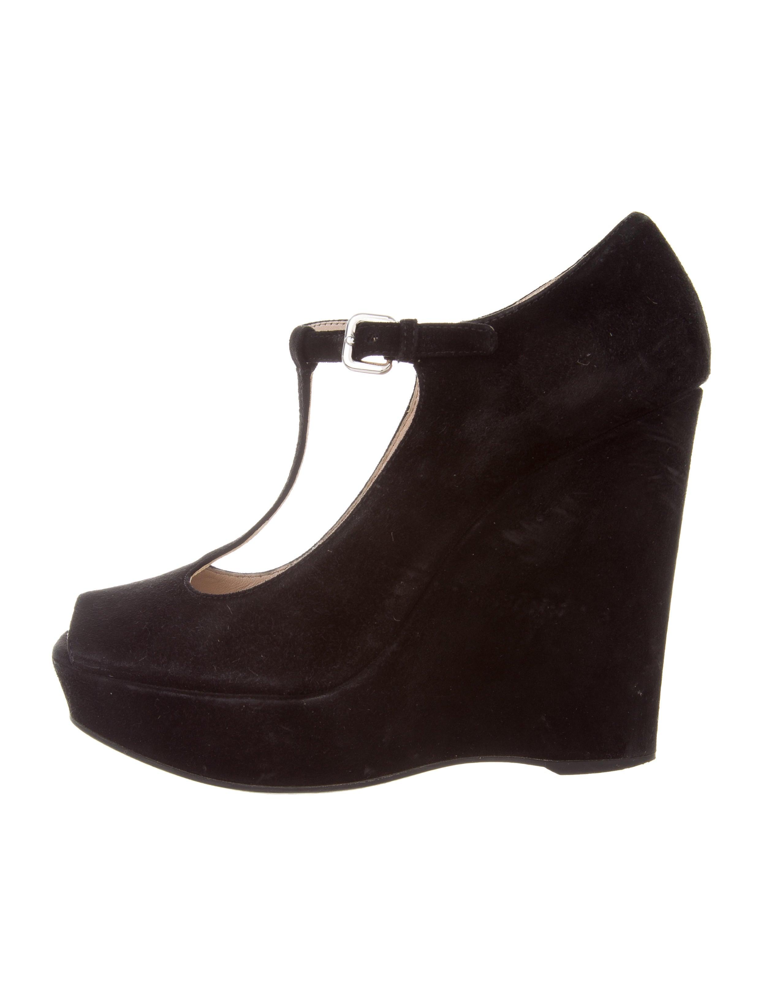 prada suede platform wedges shoes pra163770 the realreal