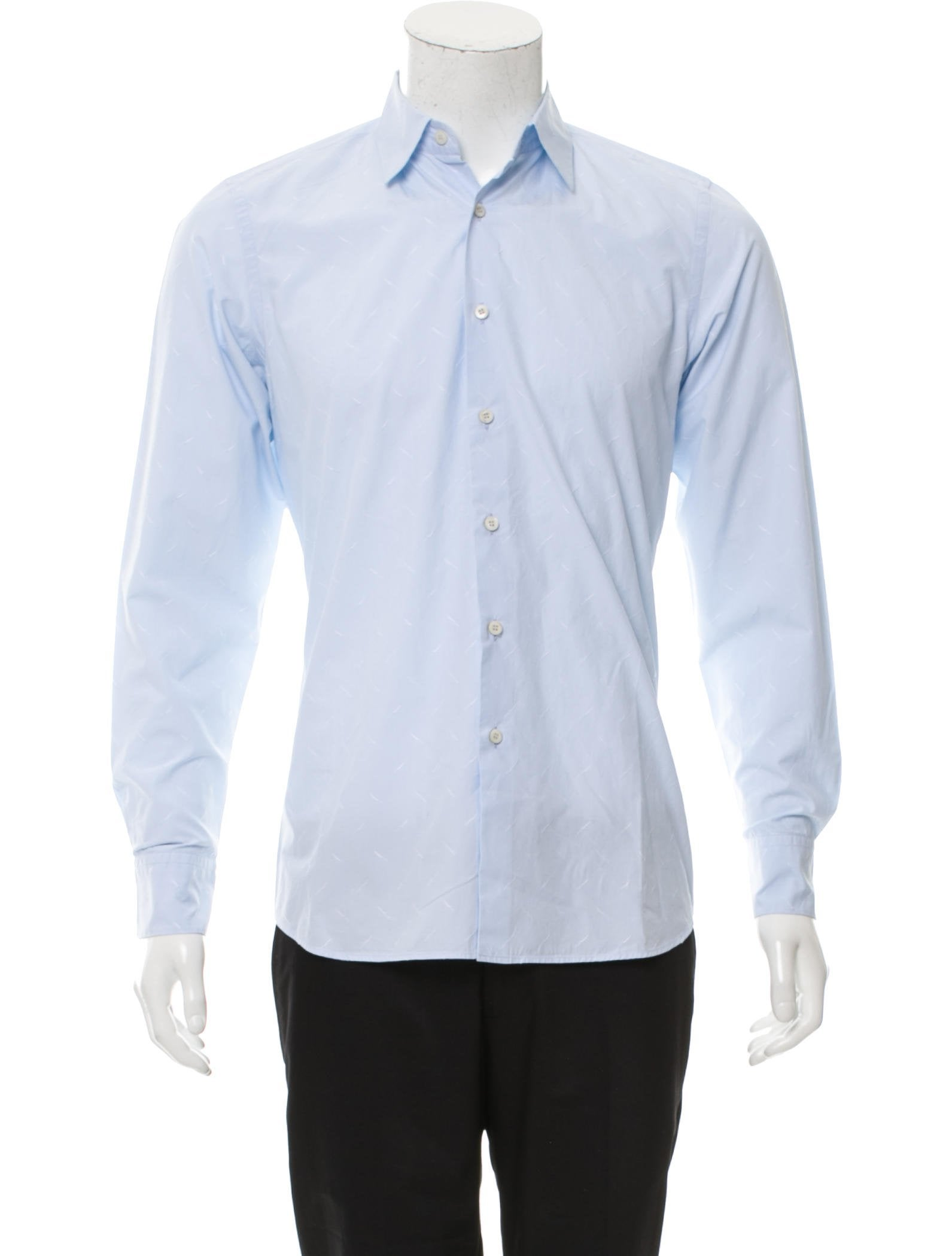 prada embroidered button up shirt clothing pra164262