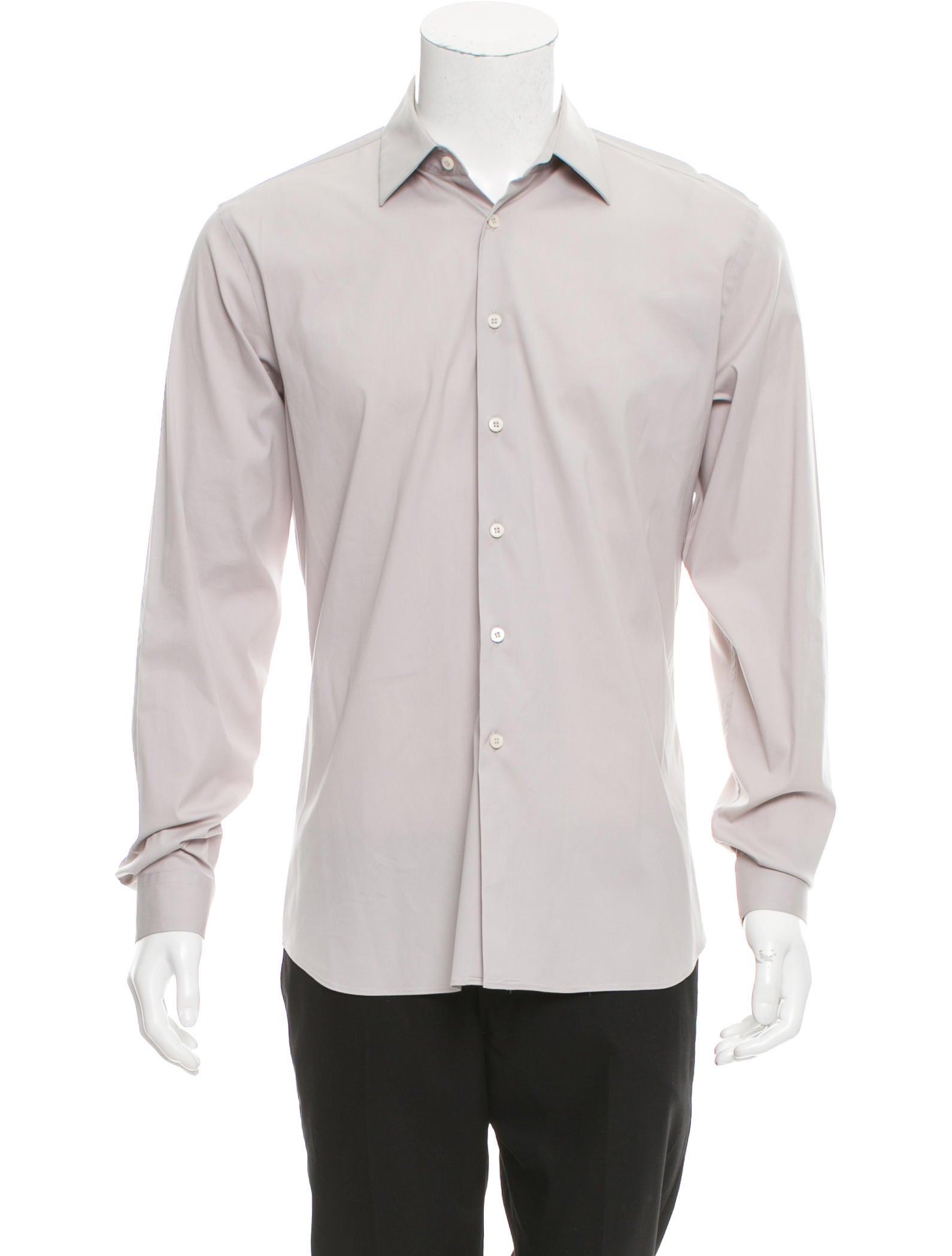 Prada Long Sleeve Button Up Shirt Clothing Pra164266