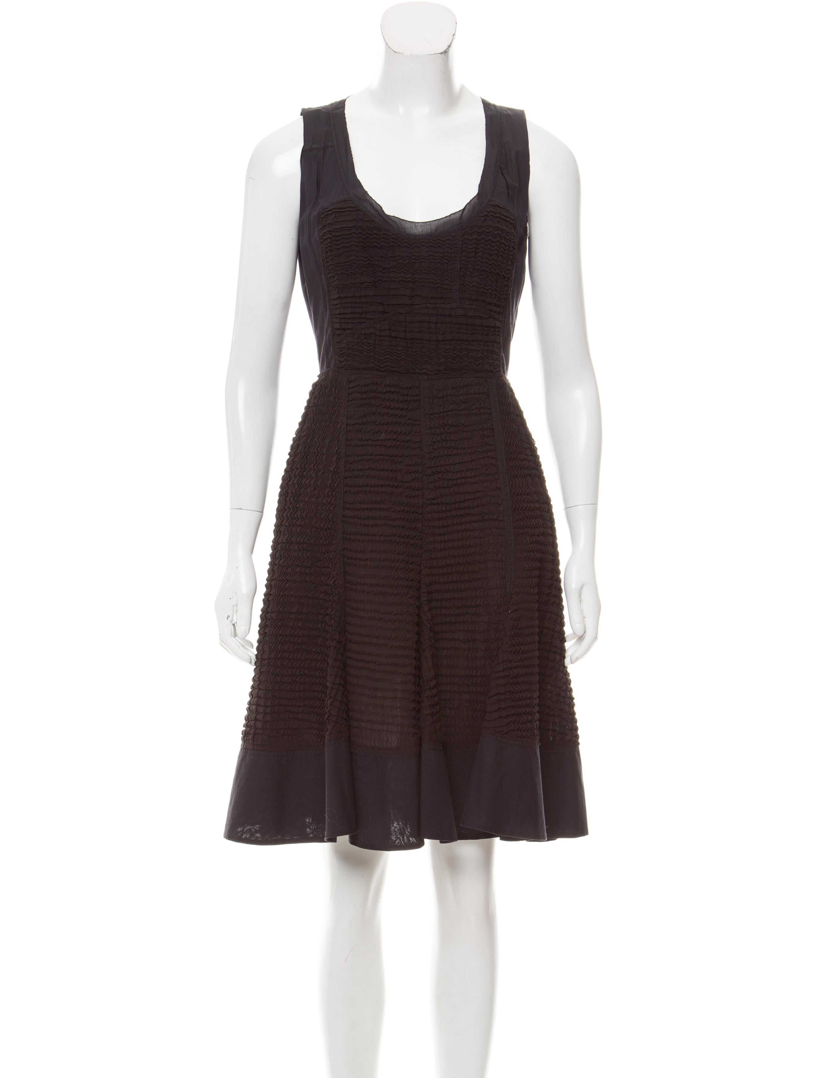 Prada Textured Knee-Length Dress - Clothing - PRA164283