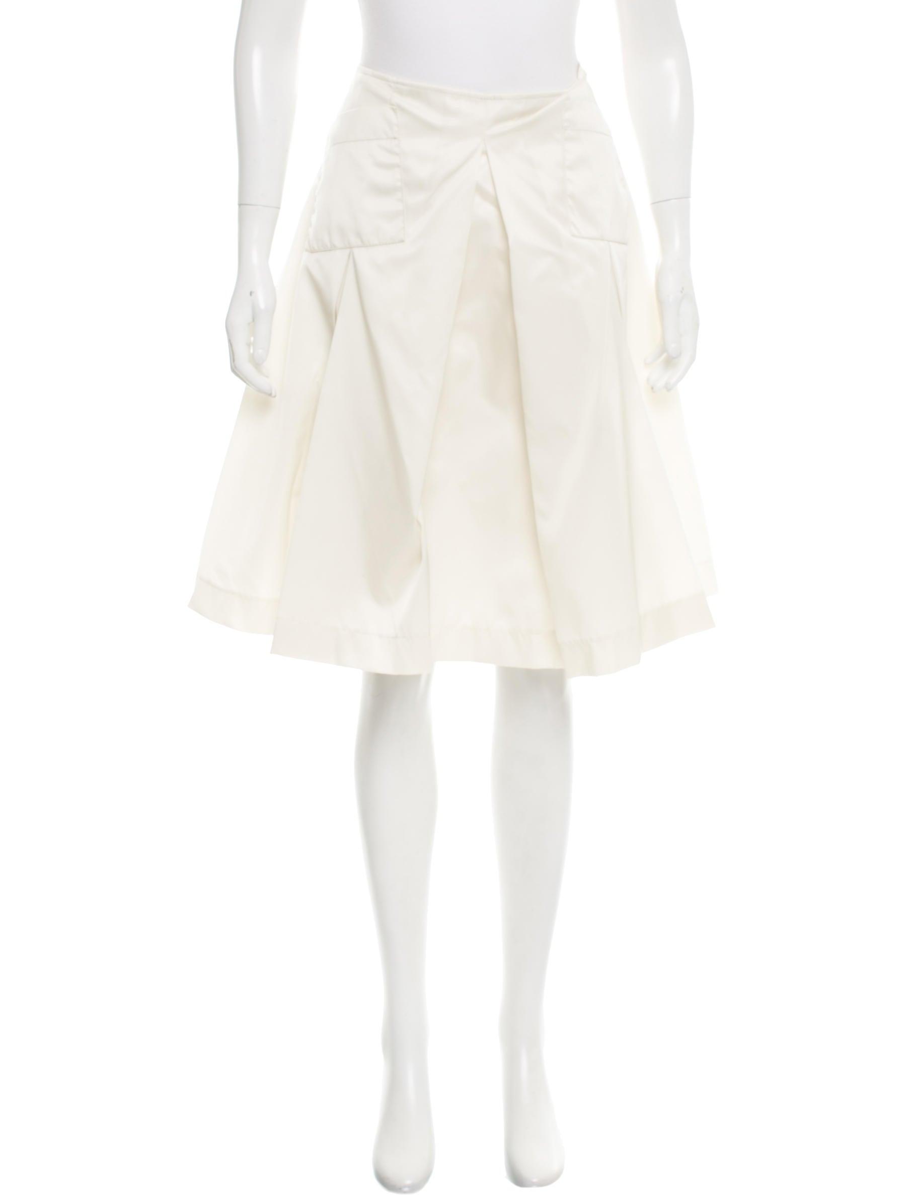 prada a line knee length skirt w tags clothing