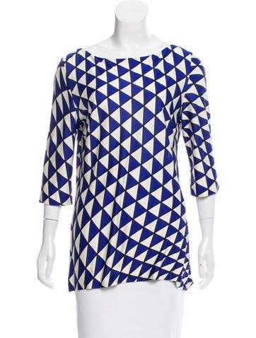 Prada Geometric Knit Top None