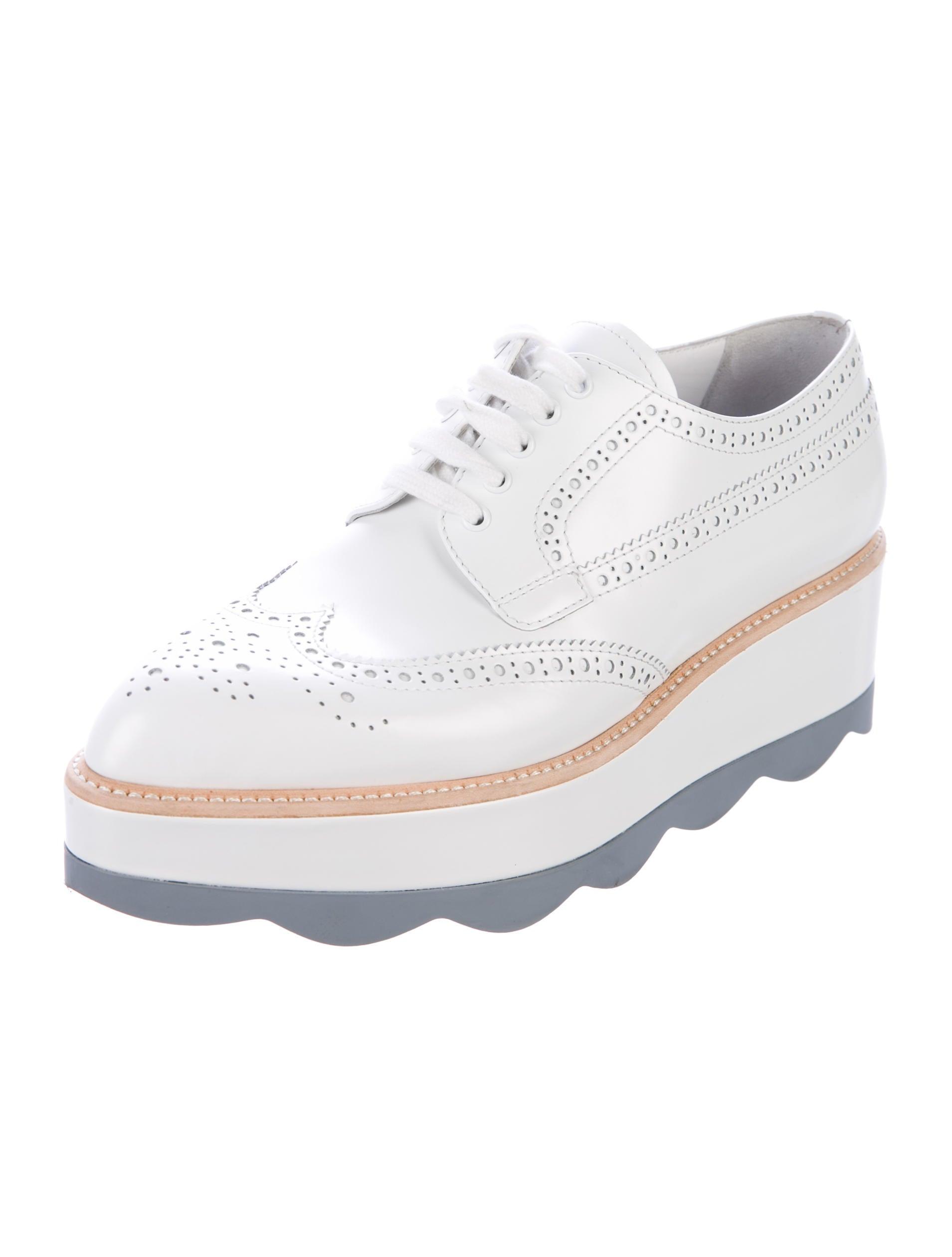 Prada Lace Up Platform Shoes