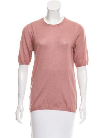Prada Cashmere Three-Quarter Sleeve Sweater None