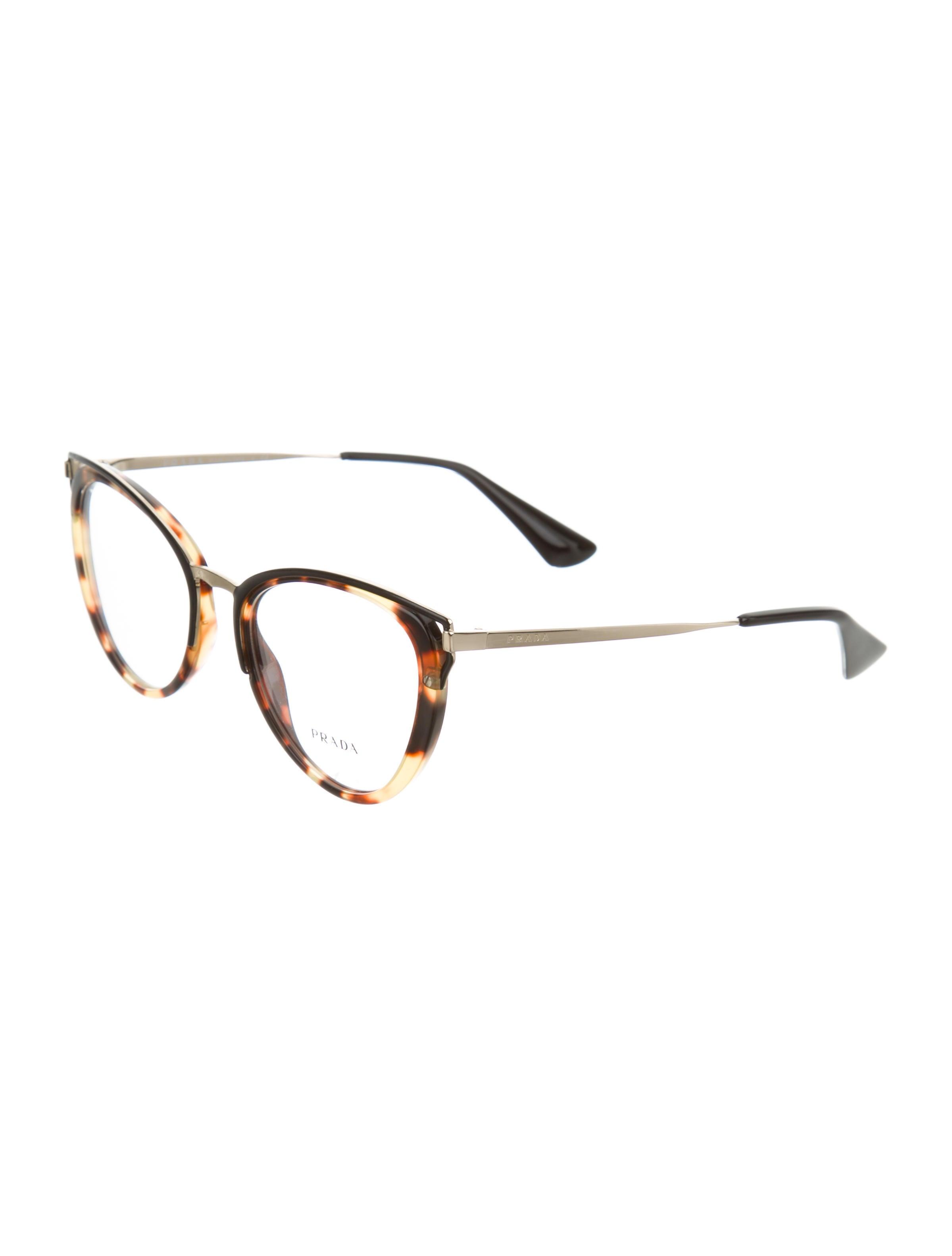 prada tortoiseshell cat eye eyeglasses w tags