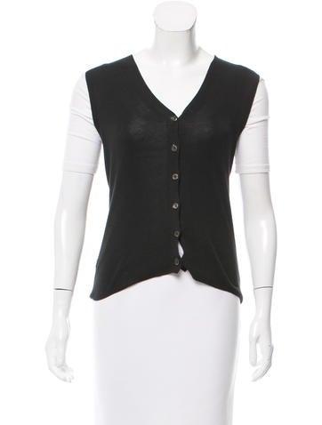 Prada V-Neck Cardigan Vest None