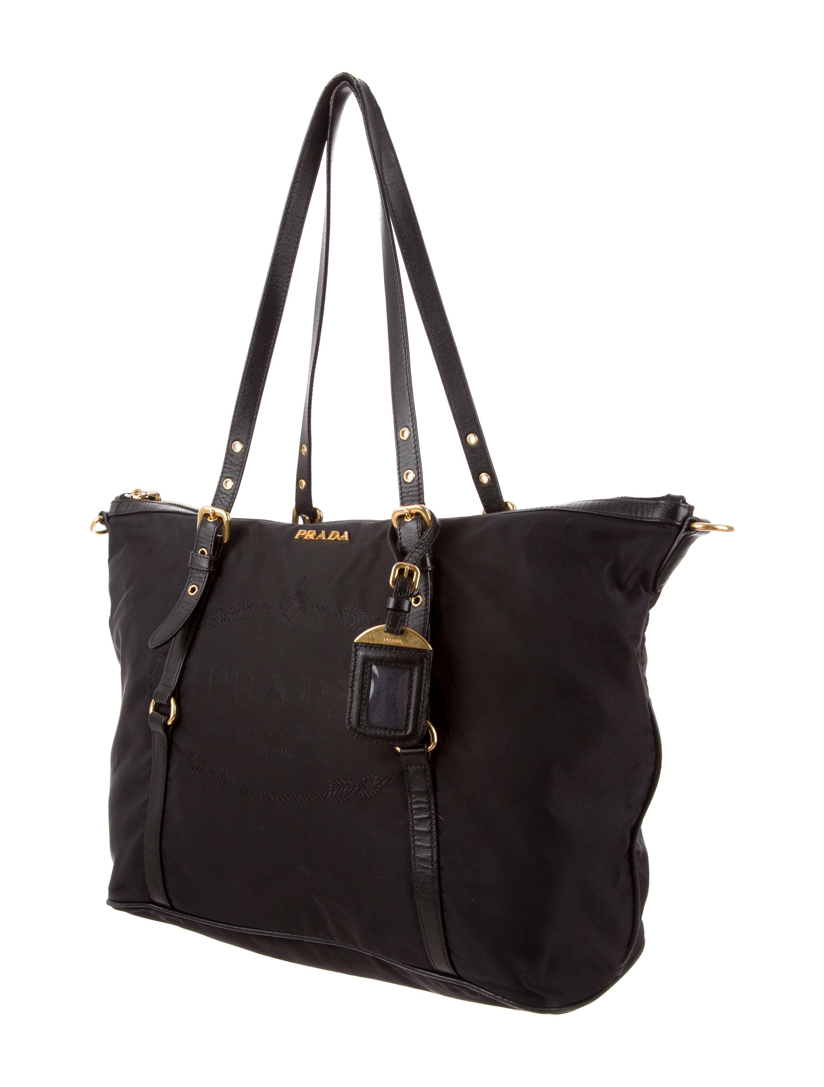prada tessuto amp saffiano tote handbags pra165541 the