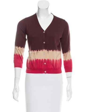 Prada Wool Dip-Dye Cardigan None
