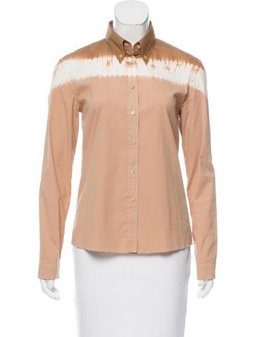 Prada Tie-Dye Button-Up Top None