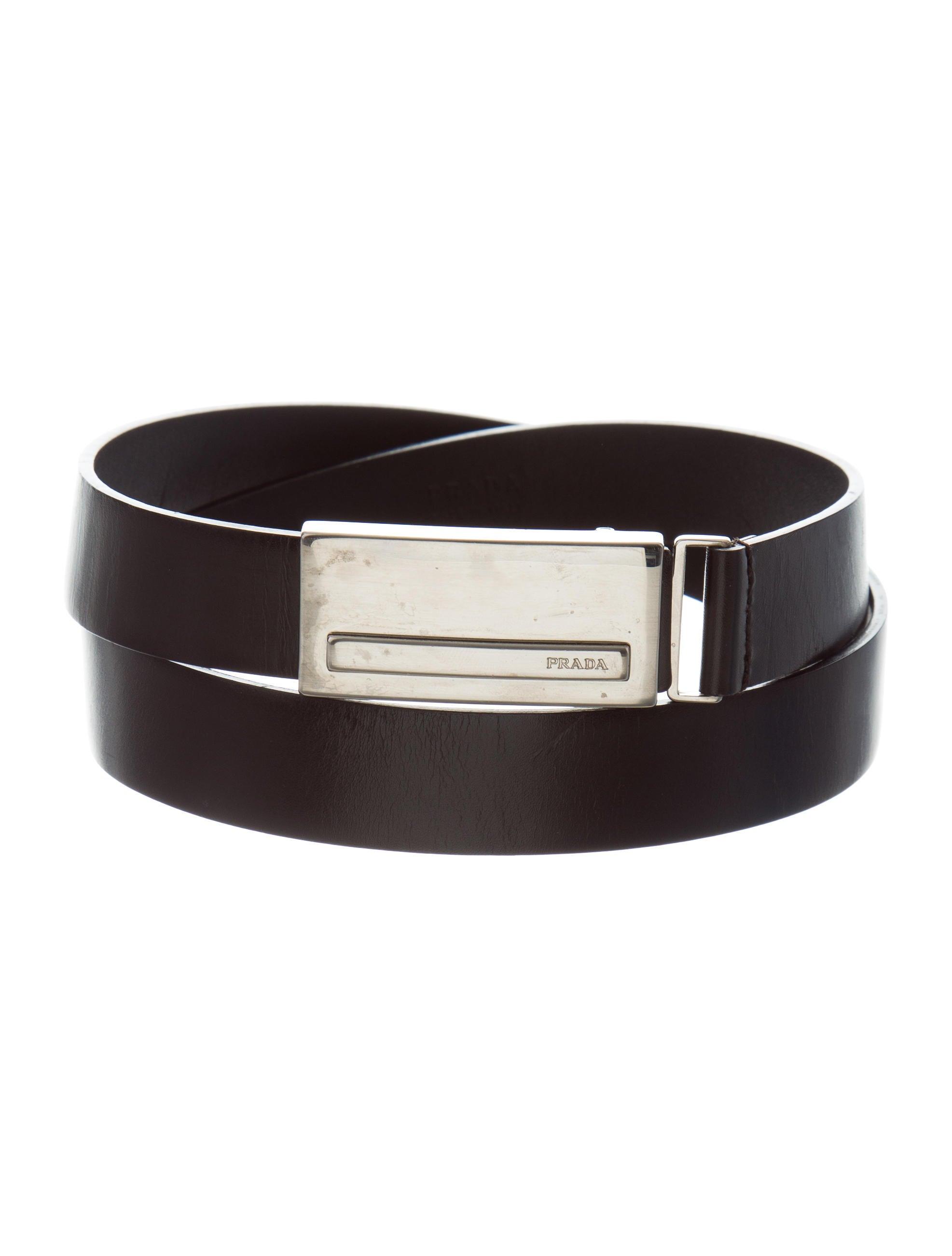 prada leather waist belt accessories pra166319 the