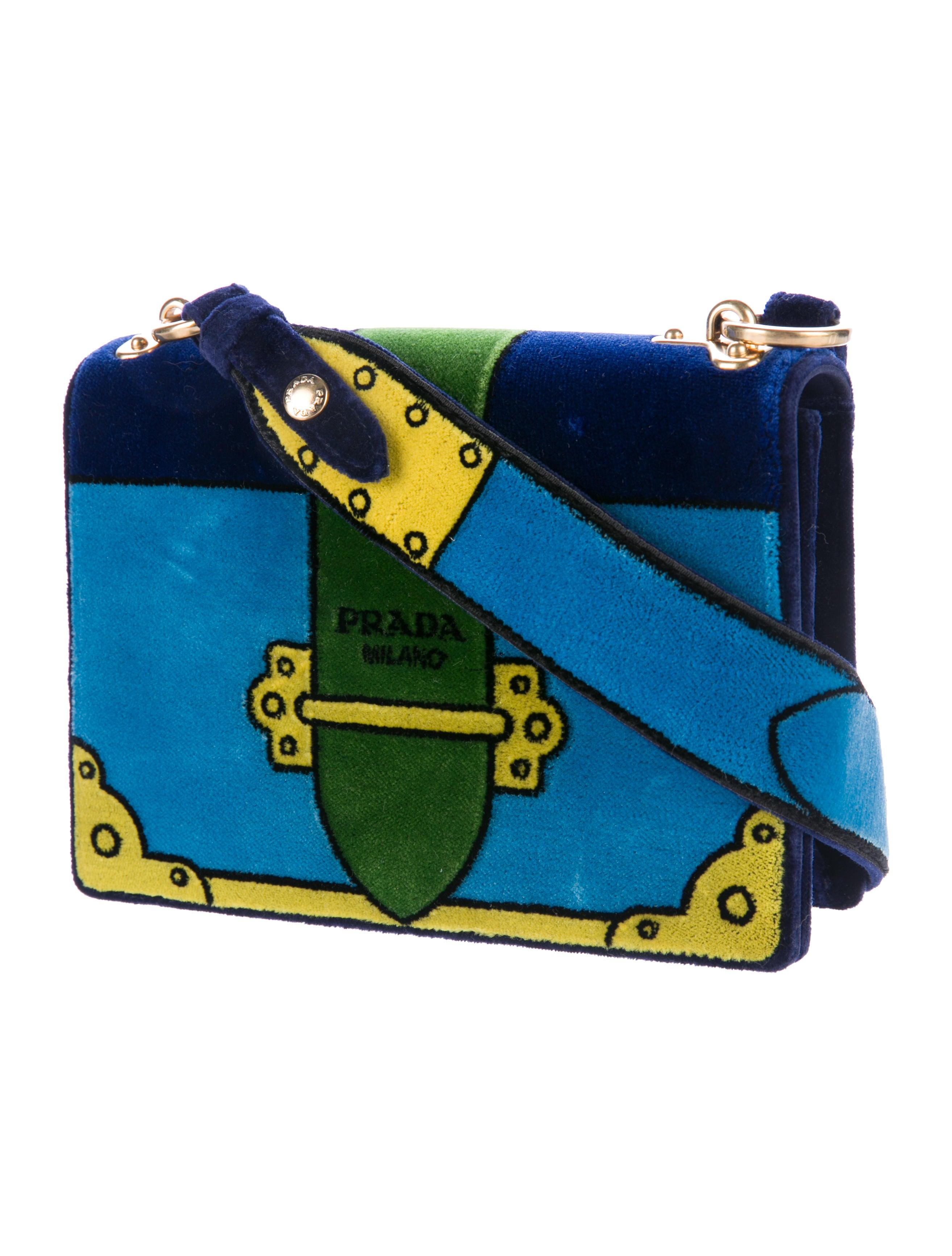 0d4ffa703a90 Prada 2017 Trompe L'Oeil Cahier Velvet Bag - Handbags - PRA166573