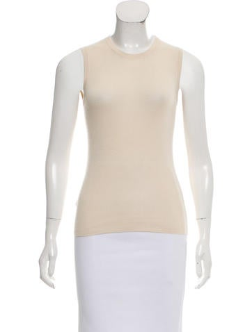 Prada Cashmere & Silk Sleeveless Top None