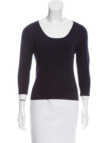 Prada Rib Knit Long Sleeve Sweater None