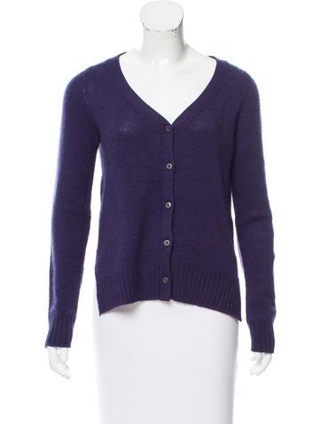 Prada Button-Up Knit Cardigan None