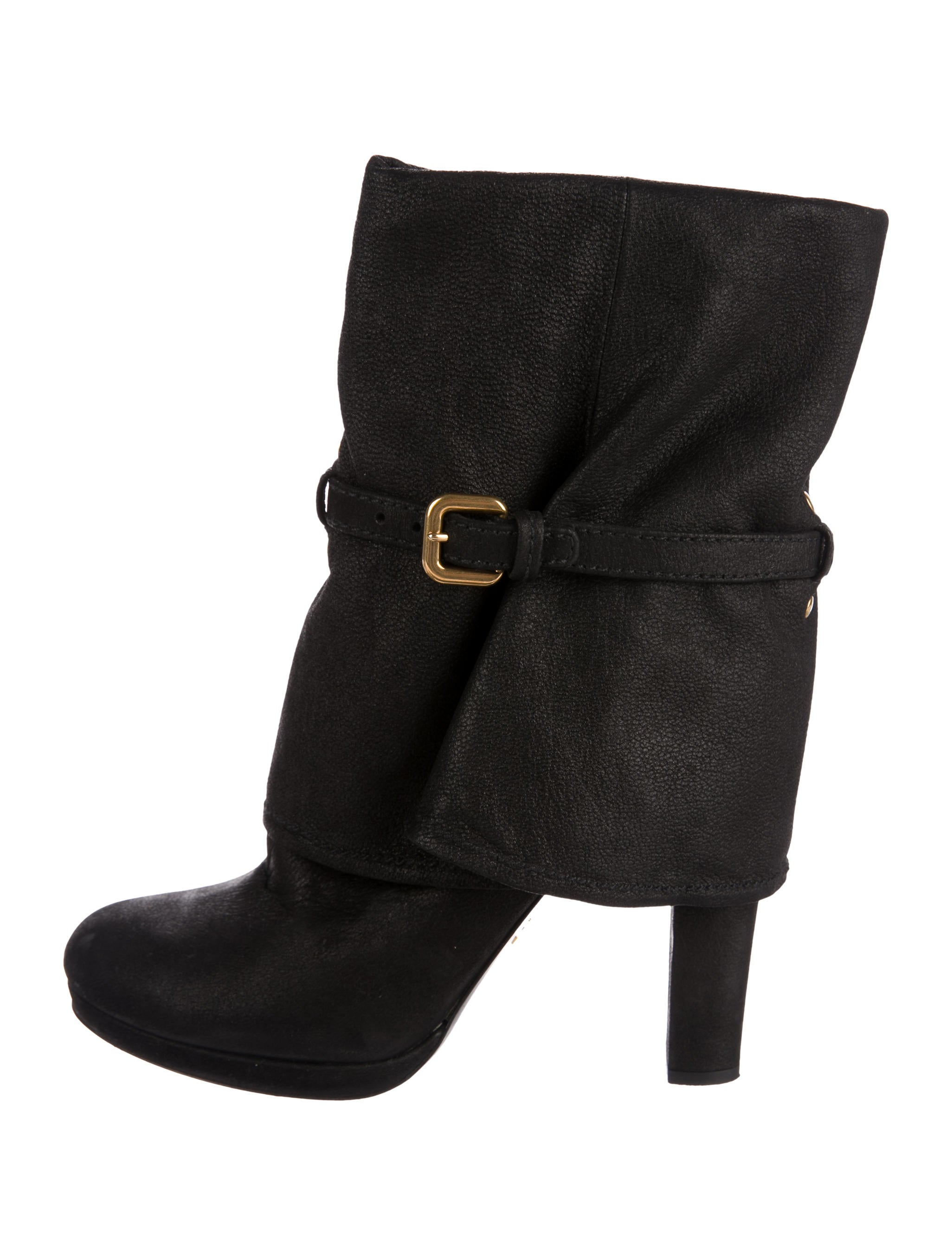 Prada High-Heel Foldover Boots cheap low cost sale great deals discount view cheap new Inexpensive sale online M5aqJgH