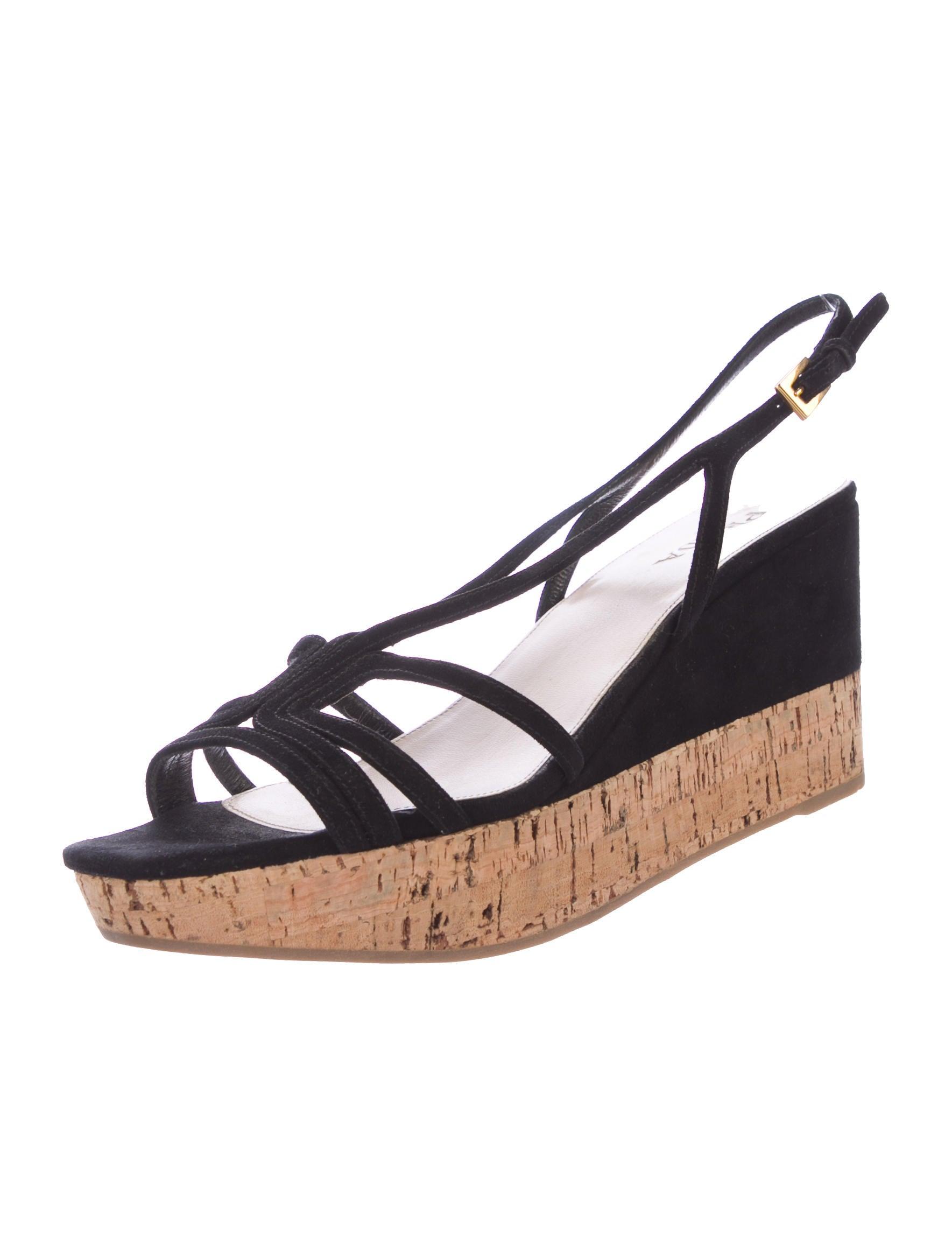 prada suede platform wedges shoes pra167409 the realreal