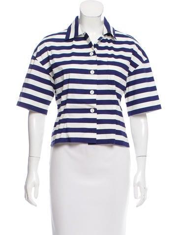 Prada Striped Button-Up Top None