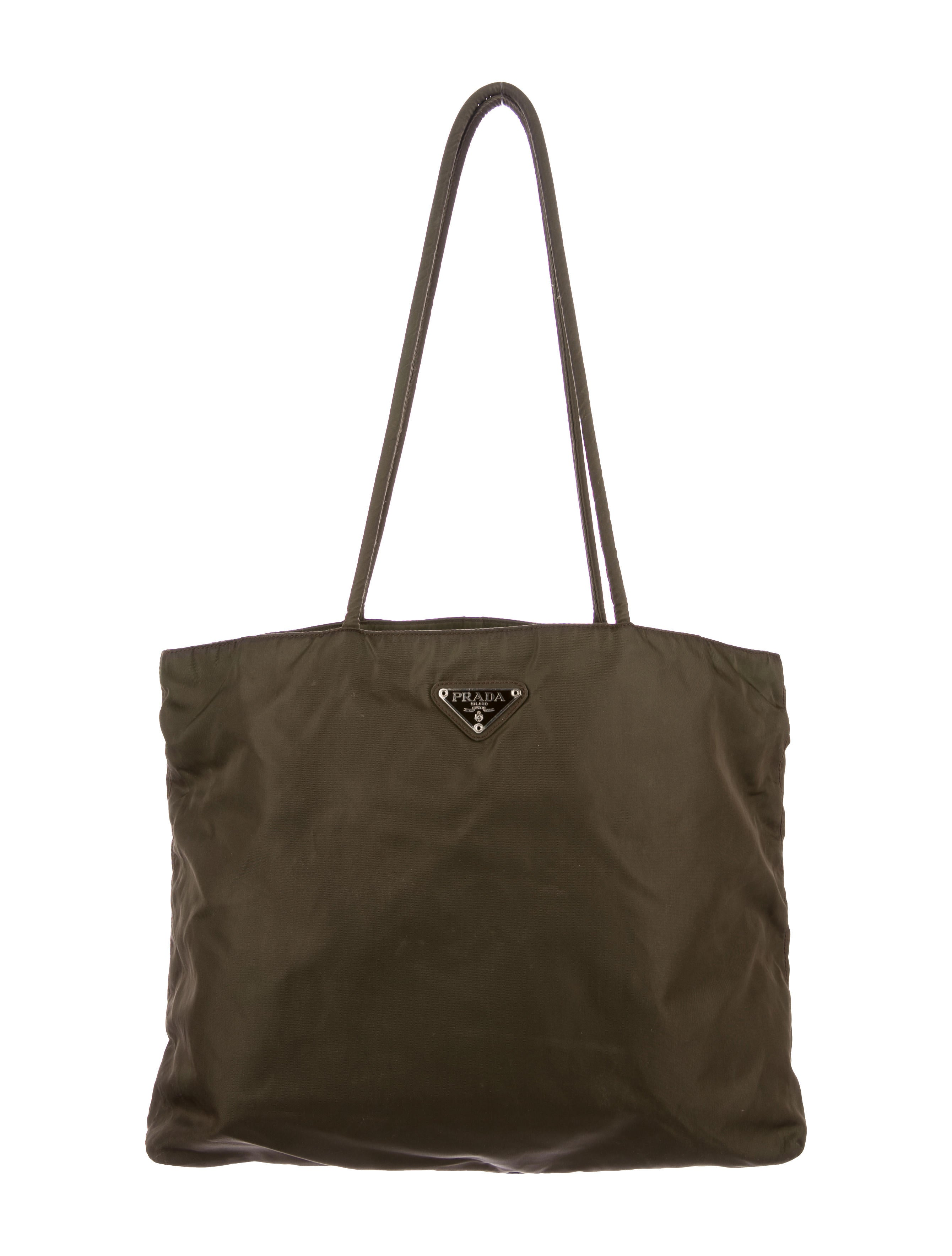 prada tessuto nylon tote handbags pra167973 the realreal