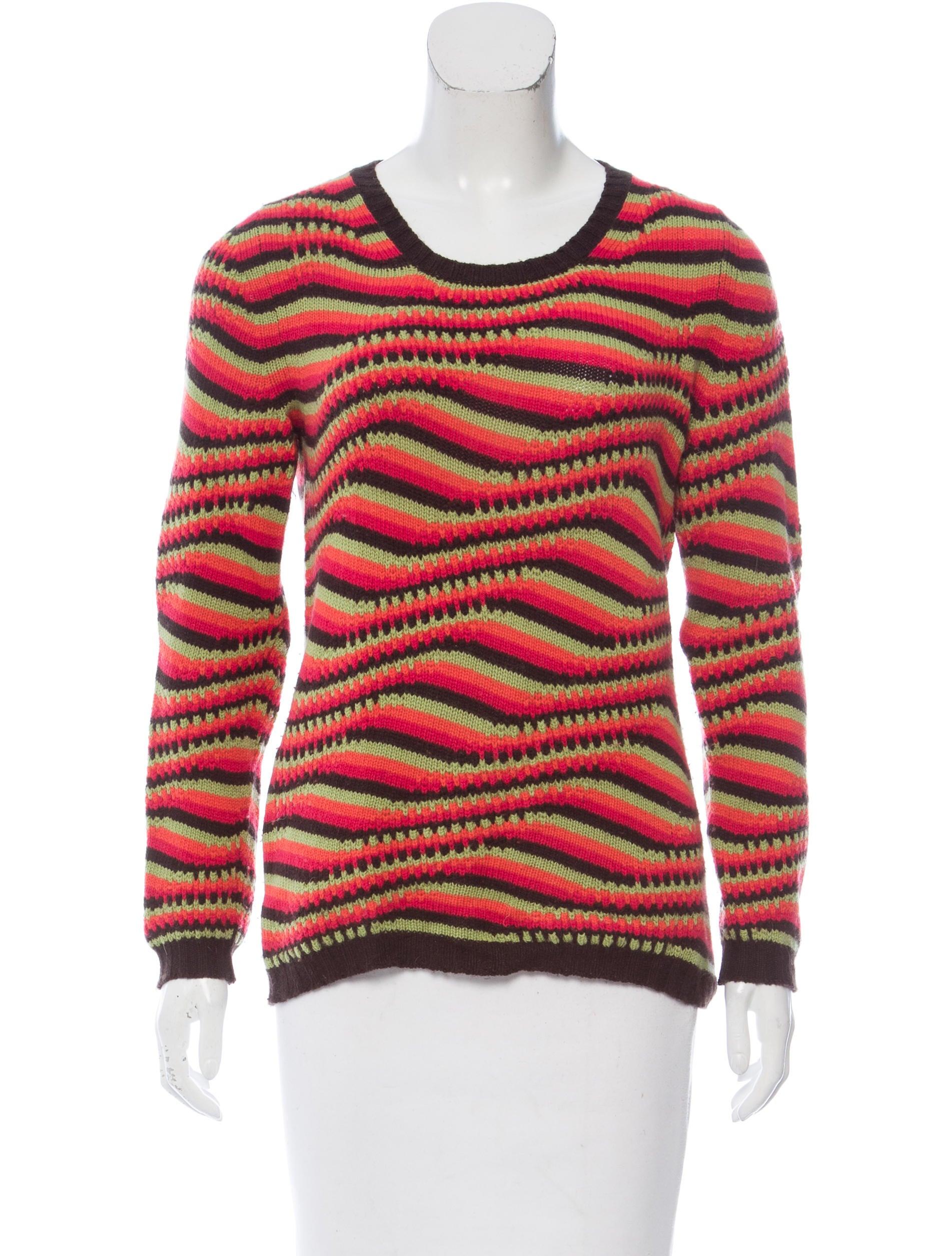 Prada Cashmere Jacquard Sweater - Clothing