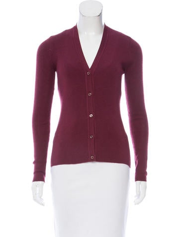 Prada Rib Knit Lightweight Cardigan None