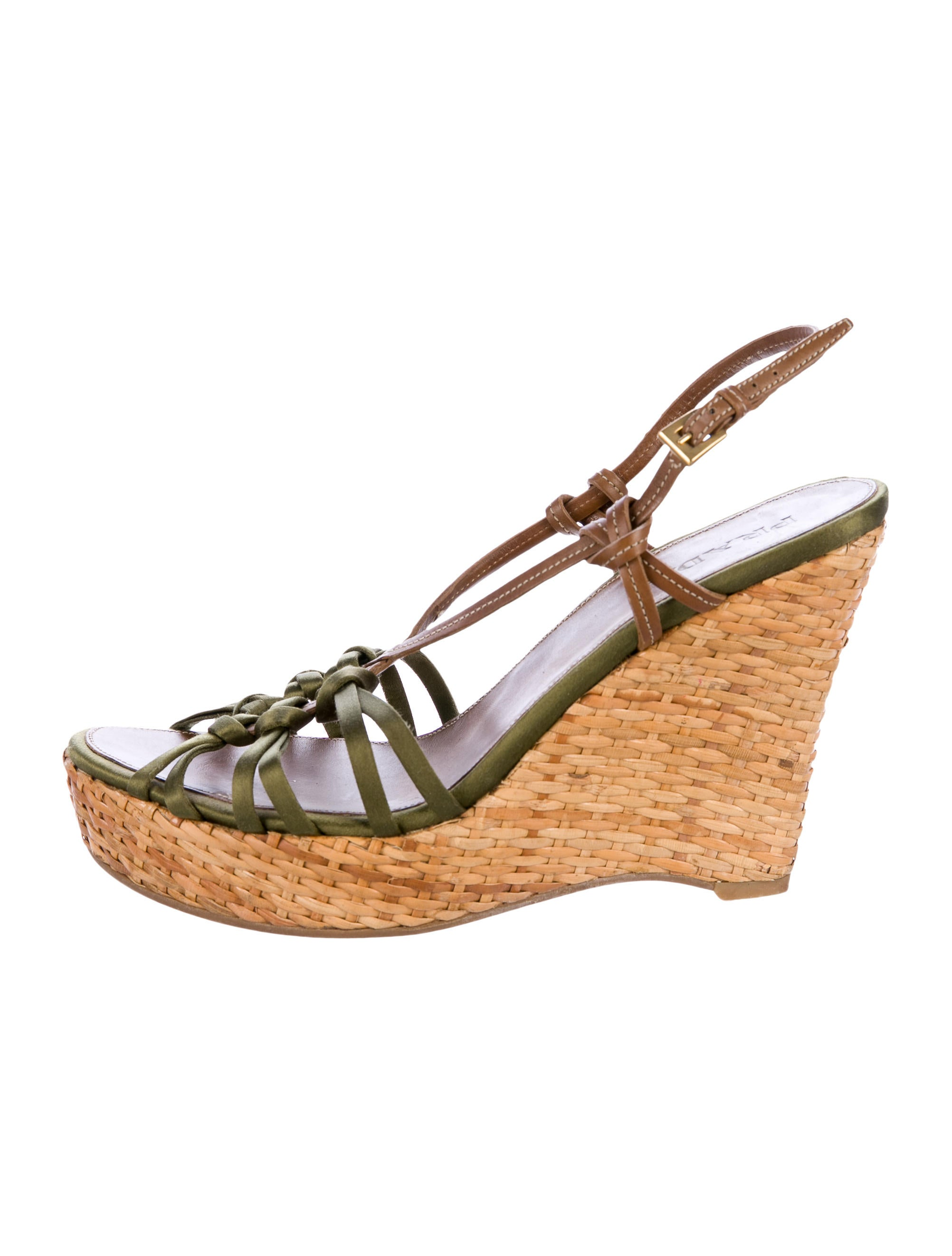 Prada Satin Crossover Wedges outlet locations online best wholesale for sale clearance discounts outlet professional latest collections online CVerGOJ