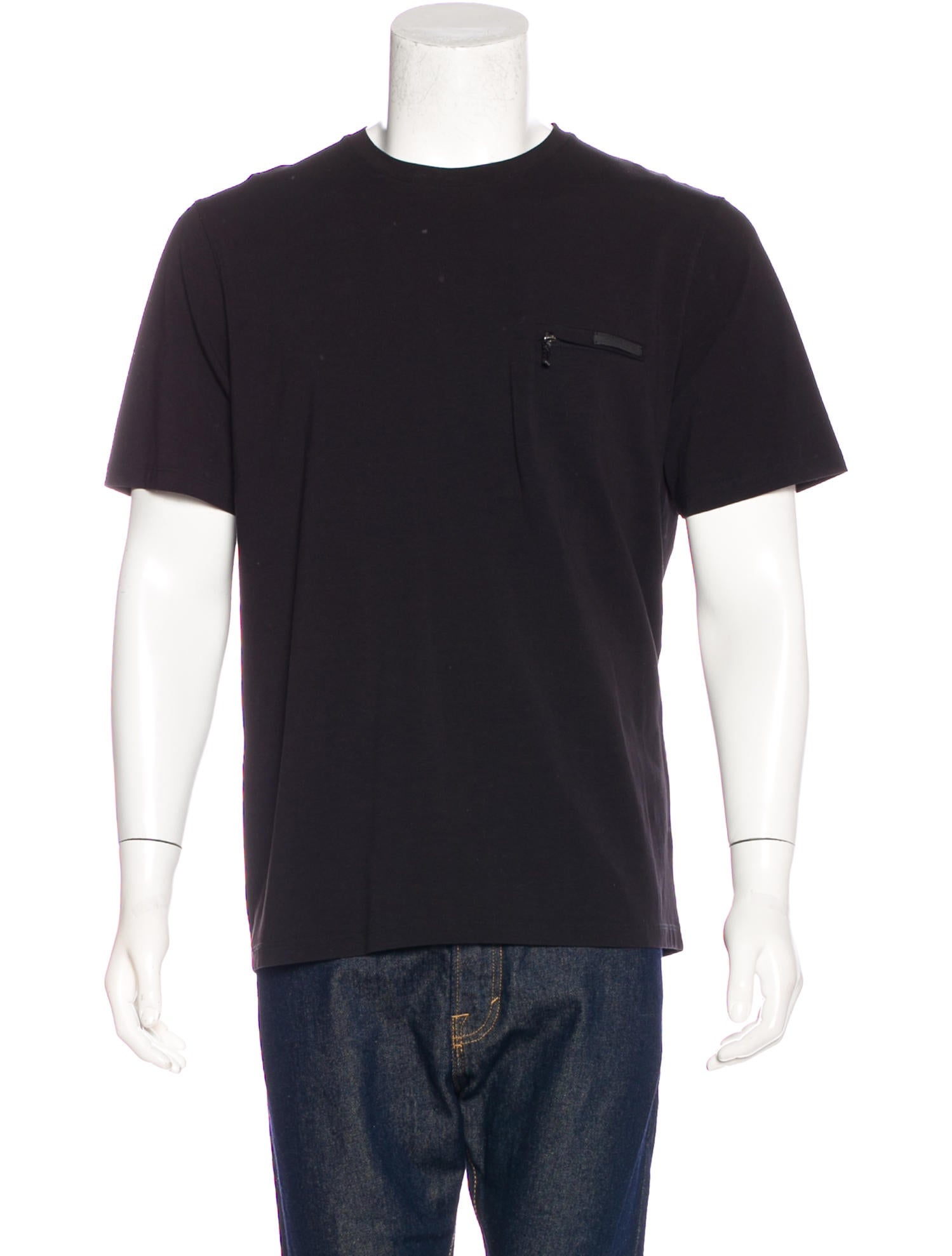 prada zipper pocket t shirt clothing pra168623 the