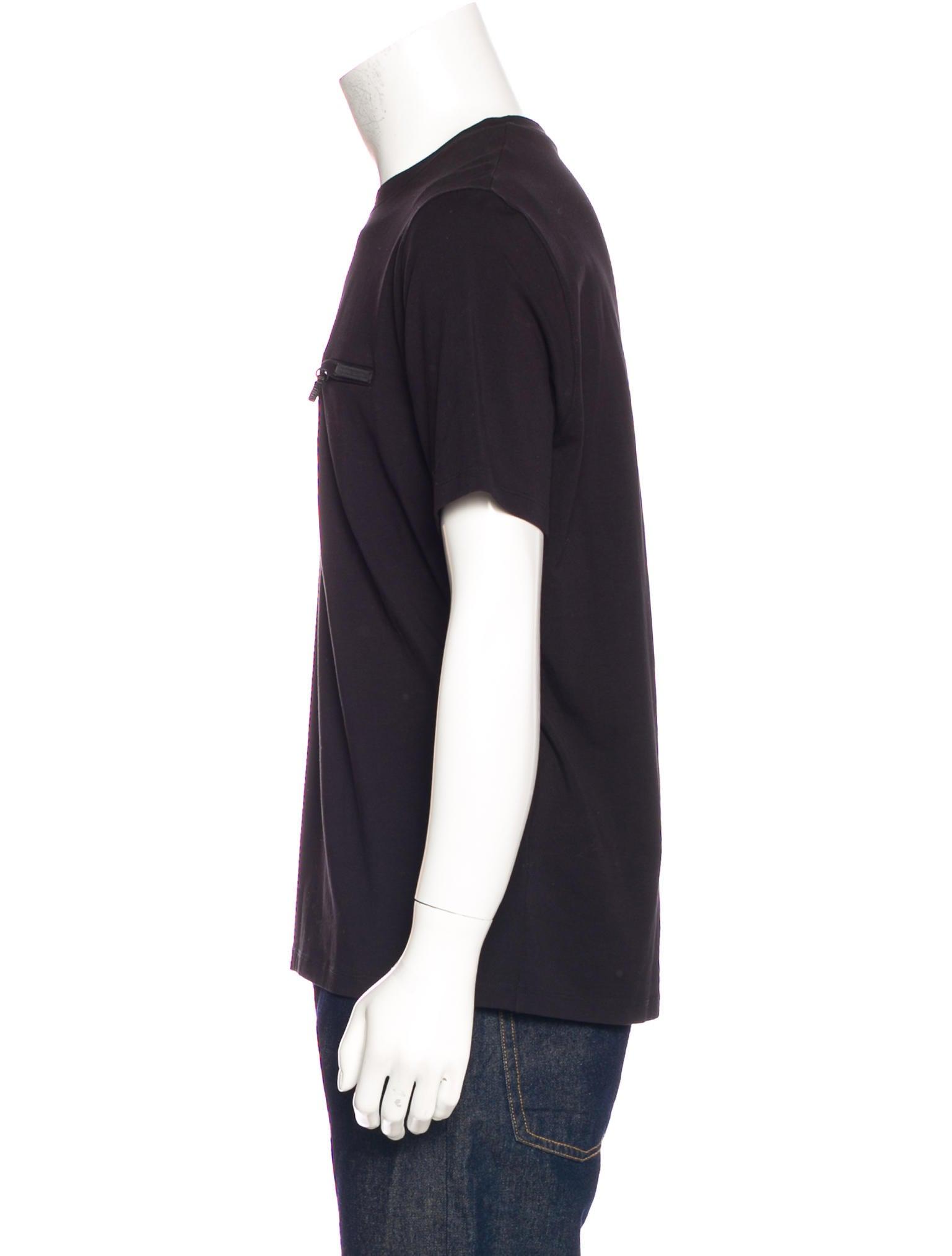 Prada zipper pocket t shirt clothing pra168623 the for Travel shirts with zipper pockets