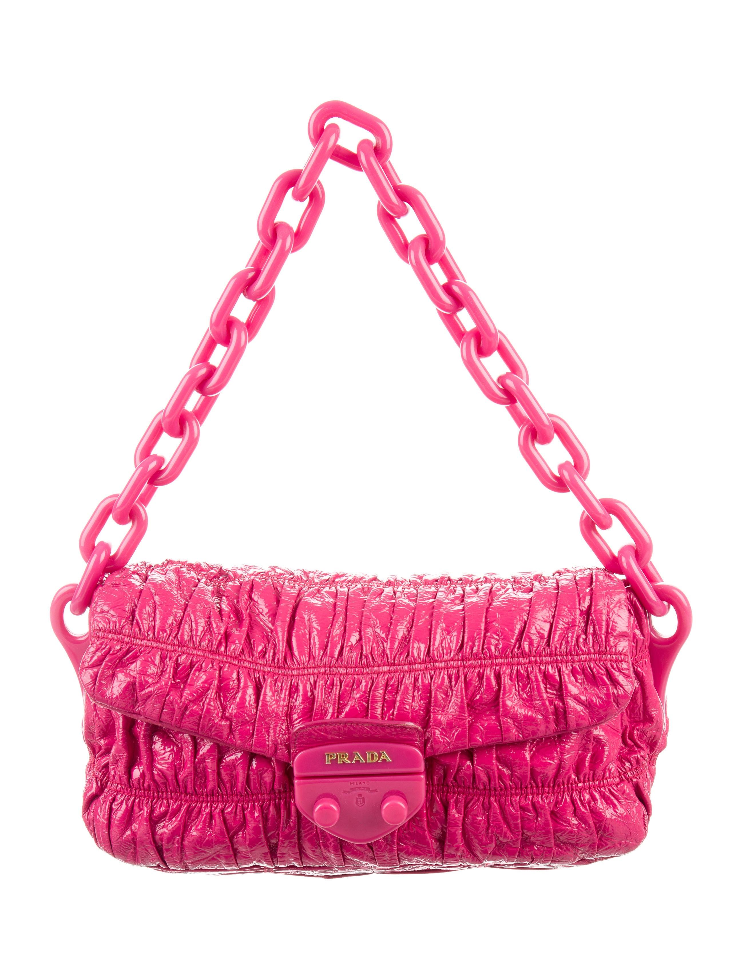 80c991bde8 Prada Vernice Gaufre Shoulder Bag - Handbags - PRA168664