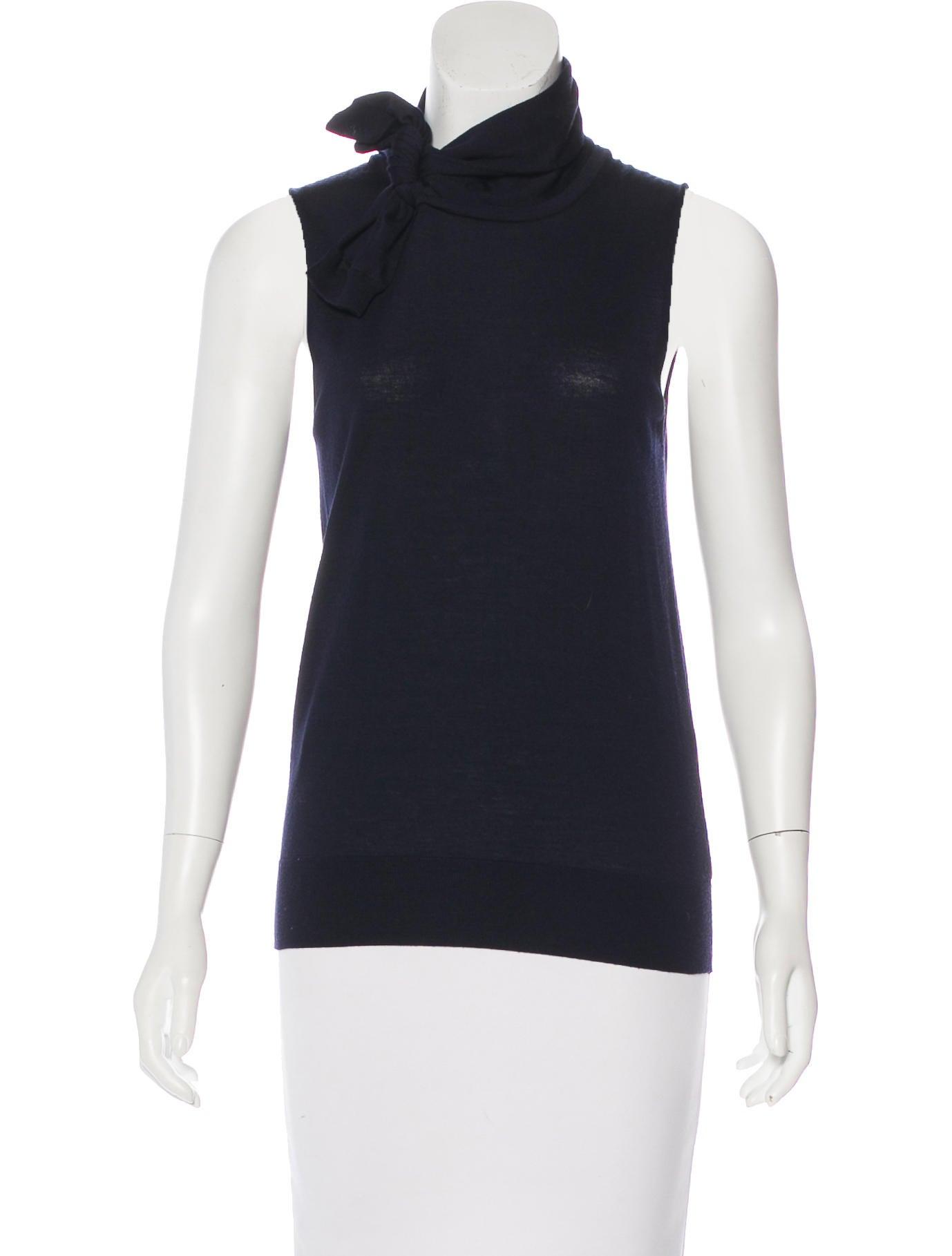 Prada wool sleeveless top clothing pra168716 the for Best wool shirt jackets